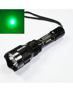 UniqueFire HS-802 Cree grønt lys lang rekkevidde ledet lommelykt