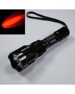 UniqueFire HS-802 Cree Rødt lys Lang rekkevidde Led Lommelykt