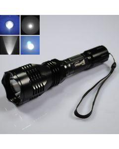 UniqueFire HS-802 Cree blått lys lang rekkevidde Led lommelykt